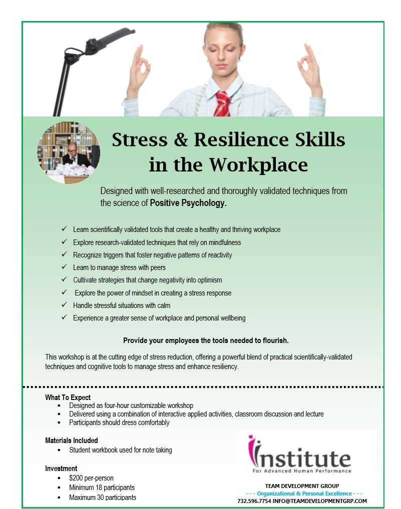 Resiliency/Stress Management